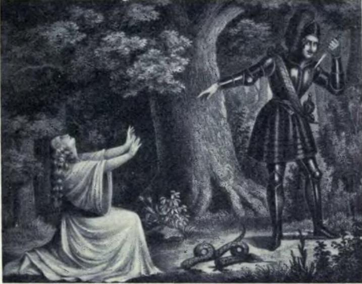 Euryantha a Adolar v třetím aktu – zdroj Wikipedia